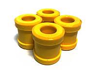 Втулка оси рычагов верхн. Волга 3102,3110 полиуретан желт. (компл.4шт) (пр-во Липецк, Россия)