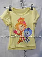 Детская футболка для девочки (92 - 116 см) купить оптом от производителя 7 км