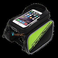 Велосипедная двухсторонняя сумка на раму для смартфона BaseCamp BC-301, фото 1