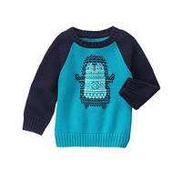 Вязаный свитер на мальчика 18-24 мес., 2, 3, 4 года Penguin Sweater Gymboree (США)