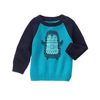 Вязаный свитер на мальчика 2, 3, 4 года Penguin Sweater Gymboree (США)