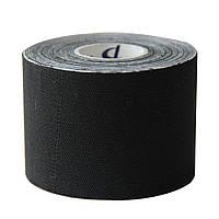 Кинезио тейп Kinesio tape DL 5 см х 5 м QUICK DRYING черный