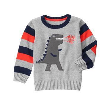 Вязаный свитер на мальчика 18-24 мес., 2, 3, 4 года T-Rex Sweater Gymboree (США)