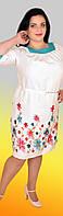 Женское платье с вышивкой из льна 1303