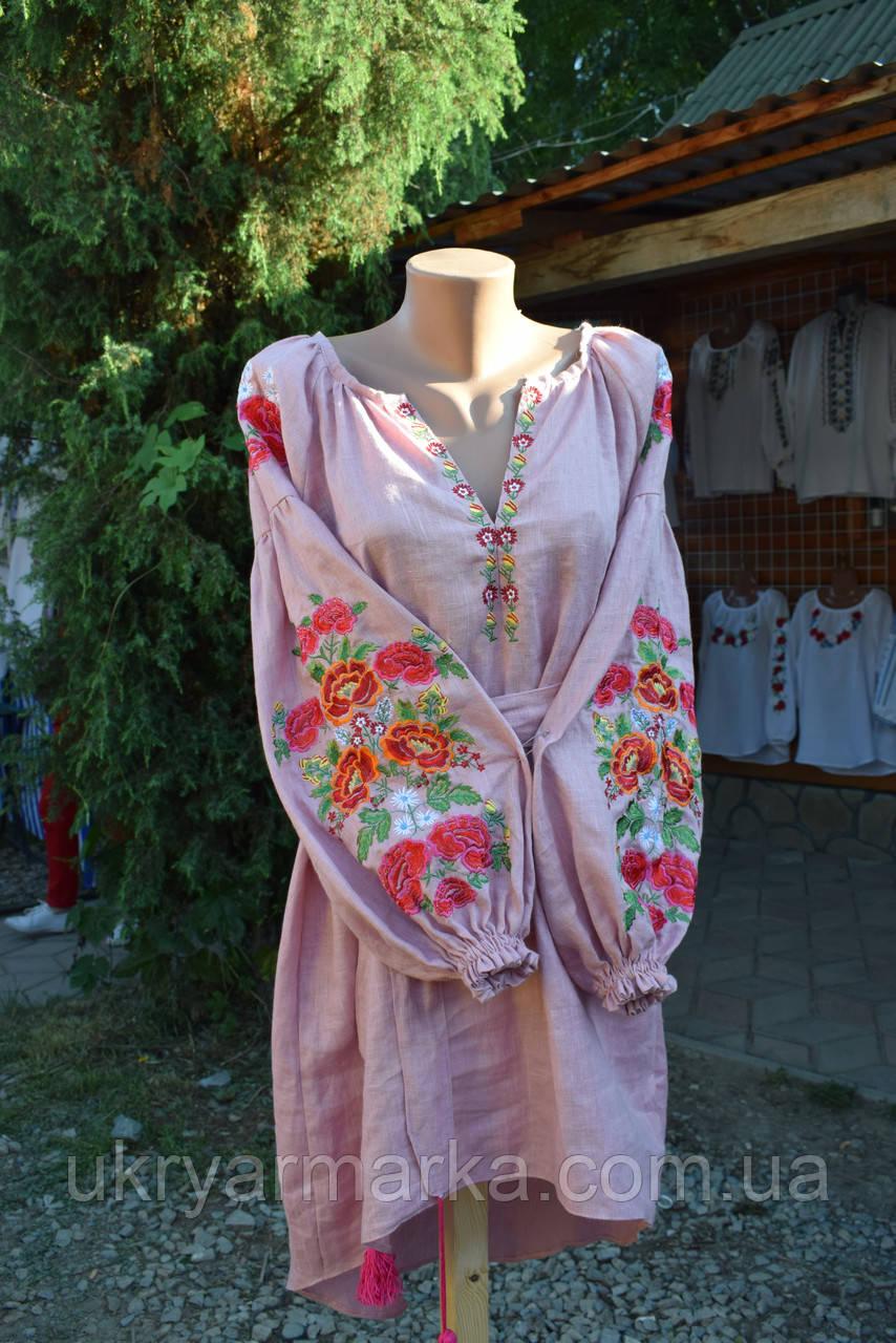"""Вишита сукня """"Квітковий оркестр"""""""