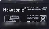 Аккумулятор NOKASONIK 12 v-7.5 ah 2200 gm, аккумуляторы общего назначения!Акция