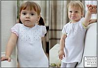 Детская кофта для девочки с коротким рукавом