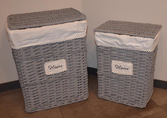 Набор плетеных корзин для хранения