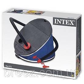 Ножной насос (большой) для надувания Intex 68610 30 см 5 л, 3 насадки