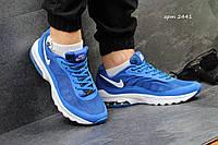 Мужские кроссовки NIKE, сетка, синие с белым / кроссовки для бега мужские НАЙК, модные