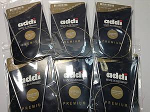 Спиці для кругового в'язання на золотій нитці Addi (Німеччина)