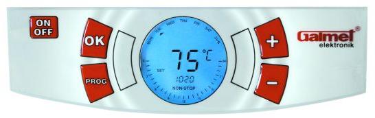 Панель управления водонагревателя водонагреватель Galmet SG Vulkan Uni Elektronik Pro 80 S