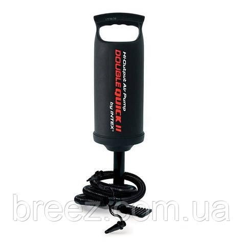 Ручной насос для надувания Intex 68614 размер 36 см, объем 2 л, фото 2