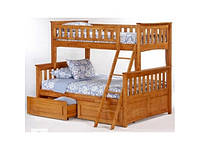 """Кровать трехместная двухъярусная деревянная """"Жасмин"""""""