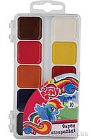 Краски акварельные Little Pony 10 цветов LP17-060 Kite