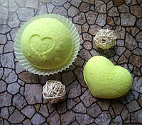 Бомбочка/гейзер для ванны Сердце (Лимон)
