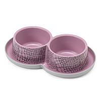 Moderna Double Trendy Dinner WildLife МОДЕРНА двойная миска для кошек, защита от муравьев, дизайн Дикий Мир