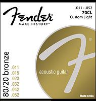 Струны для гитары Fender 80/20 70cl для акустической