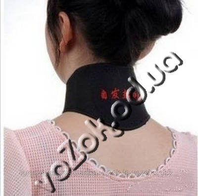 Турмалиновый пояс на шею Nora Energy (накладка на шею, повязка для шеи)