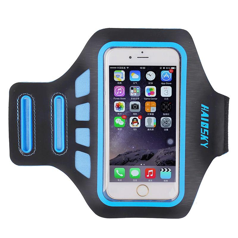 """Спортивный чехол на руку для смартфонов Sea & sky с диагональю до 5"""" дюймов голубой"""