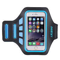 """Спортивный чехол на руку для смартфонов Sea & sky с диагональю до 5"""" дюймов голубой, фото 1"""