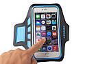"""Спортивный чехол на руку для смартфонов Sea & sky с диагональю до 5"""" дюймов голубой, фото 2"""