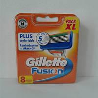Кассеты для бритья Gillette Fusion 8 шт. ( Картриджи, лезвия Жиллет фьюжин оригинал Германия ), фото 1