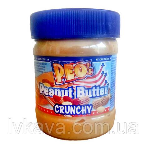 "Арахисовое масло Peo""s с кусочками арахиса, 340 гр, фото 2"
