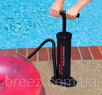 Ручной насос для надувания Intex 68615 размер 48 см, объем 5 л, фото 2