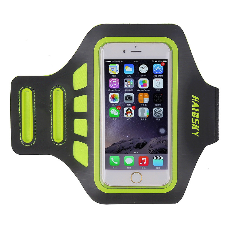 Спортивный чехол на руку для смартфонов Sea & sky размер телефона 14х7 см зеленый