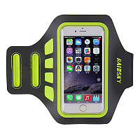 """Спортивный чехол на руку для смартфонов Sea & sky с диагональю до 5.5"""" дюймов зеленый, фото 1"""
