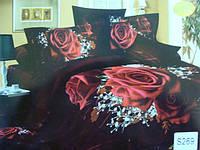 Сатиновое постельное белье евро 3D ELWAY S269