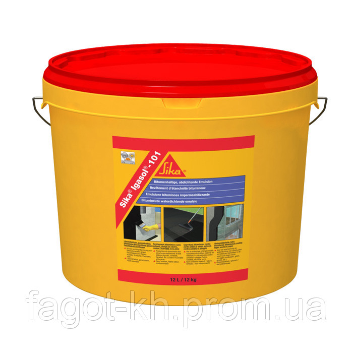 Sika®Igasol® - 101 - однокомпонетная, эластичная, без растворителей, модифицир полимерами, битумная эмульсия