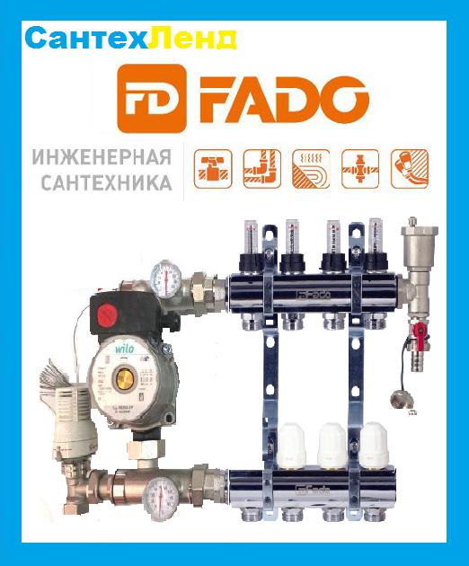 Коллектор в сборе Fado на 10 контуров для теплого пола   - СантехЛэнд в Харькове
