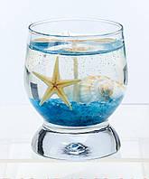 Свеча  гелевая морская сувенирная