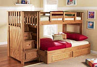 """Кровать трехместная двухъярусная массив дерева """"Шведская"""""""