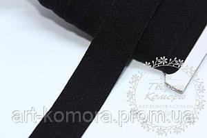 Коса бейка стрейчевая, 2 см, черная