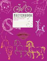 Скетчбук Визуальный экспресс-курс рисования (малиновый переплет)