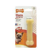 Nylabone Dura Chew Petite НИЛАБОН ДЬЮРА ЧЬЮ жевательная игрушка кость для собак до 7 кг с интенсивным стилем грызения, оригинальный вкус