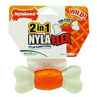 Nylabone NylaFlex Bone НИЛАБОН НИЛАФЛЕКС БОН игрушка кость для собак до 23 кг с умеренным стилем грызения, вкус бекона