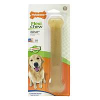 Nylabone Flexi Chew Giant НИЛАБОН ФЛЕКСИ ЧЬЮ жевательная игрушка кость для собак до 23 кг с умеренным стилем грызения, вкус курицы