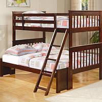 """Кровать трехместная двухъярусная массив дерева """"Гермес"""""""
