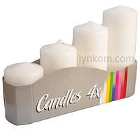 Свеча белая цилиндр (4шт)