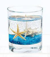 Гелевая свеча синее море