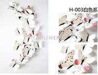 Бабочки для декора 12 шт., белые