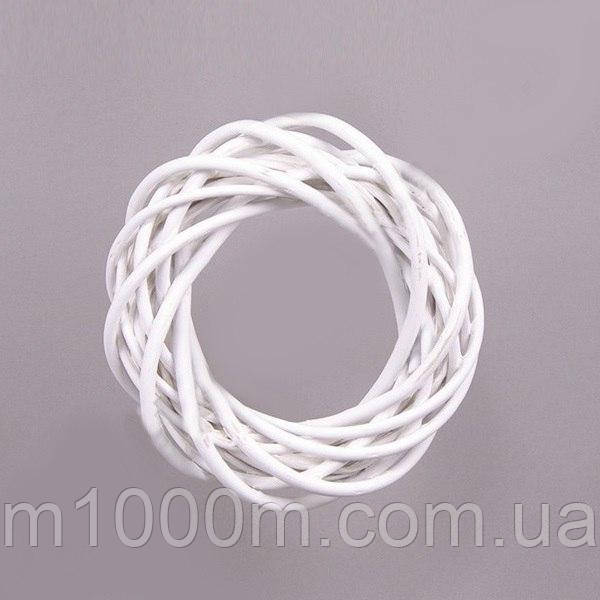 Венок из лозы белый 30 см. Окрашенный H16123-30-MIX