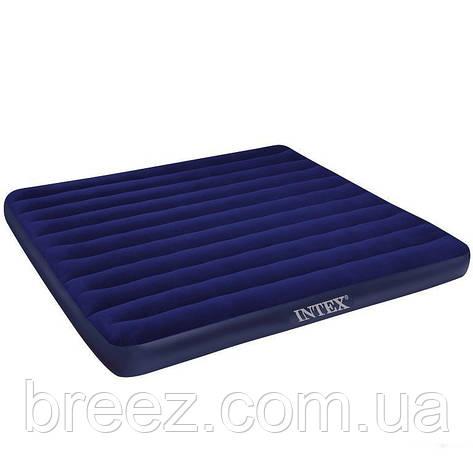 Надувной матрас Intex 68755 синий двуспальный 203 х 183 х 22 см, фото 2
