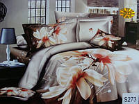 Сатиновое постельное белье евро 3D ELWAY S273