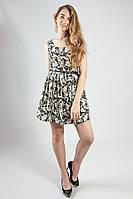 Платье летнее мини с поясом