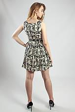 Женское платье летнее мини с поясом, фото 3
